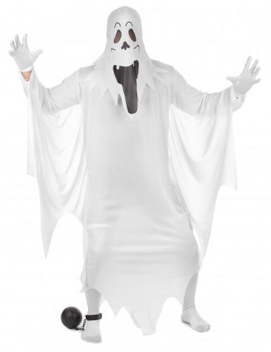 Lustiges Gespenst Halloweenkostüm Geist weiss