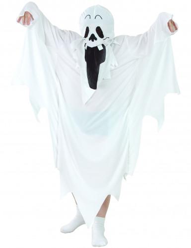 Gruseliger Schloss-Geist Halloween-Kinderkostüm Gespenst weiss