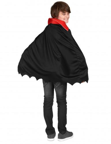 Edler Vampir Halloween-Kinderkostüm rot-schwarz-weiss-2