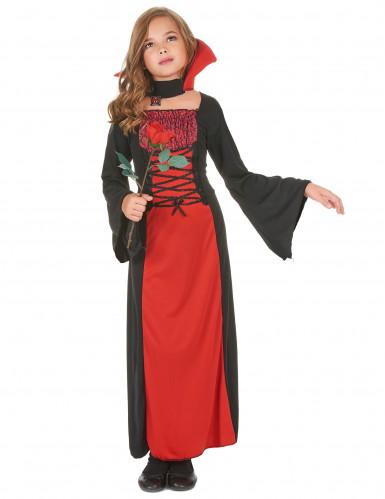 Kleine Vampirin Halloween-Kinderkostüm schwarz-rot