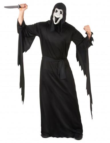 Maskierter Serienmörder Halloween-Herrenkostüm schwarz-weiss