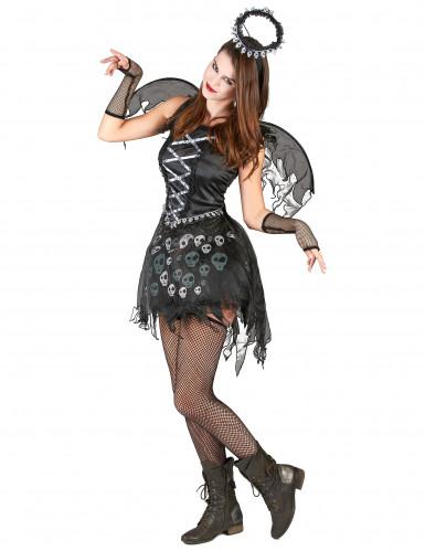 Todesengel Halloween-Damenkostüm schwarz-grau-1