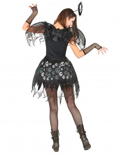 Todesengel Halloween-Damenkostüm schwarz-grau-2
