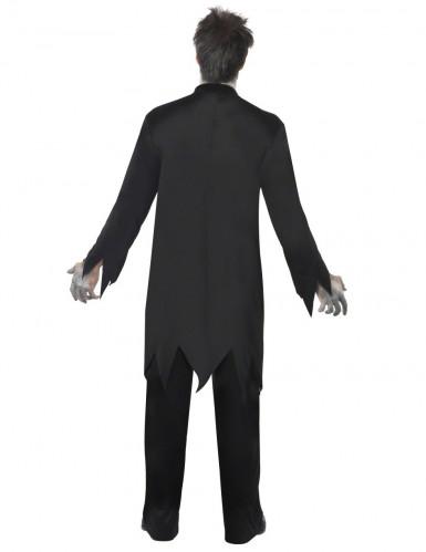 Horror Zombie Priester Pfarrer Halloween Kostüm schwarz-weiss-rot-2