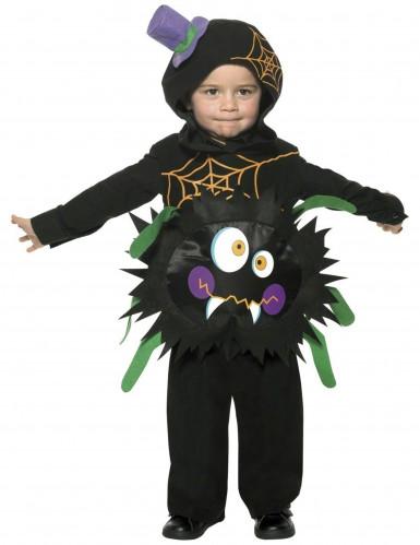 Lustige Spinne Kinderkostüm schwarz-bunt