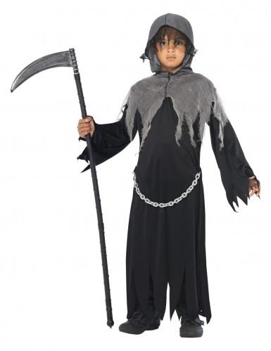 Grim Reaper Tod Halloween Kinderkostüm schwarz-grau