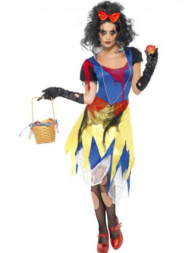 Gothic Horror Märchen-Prinzessin Halloween Damenkostüm blau-gelb-rot