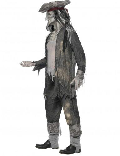 Zombie Geister Pirat Halloween Kostüm grau-1