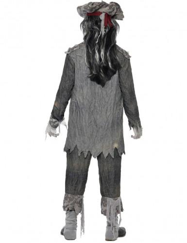 Zombie Geister Pirat Halloween Kostüm grau-2