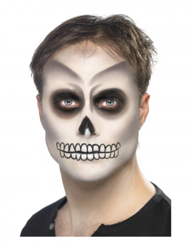 skelett make up set halloween 4 teilig weiss schwarz g nstige halloween make up effekte bei. Black Bedroom Furniture Sets. Home Design Ideas