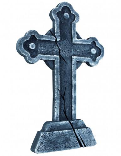Gothic Grabstein Kreuz Halloween Party-Deko grau 60 x 40 cm