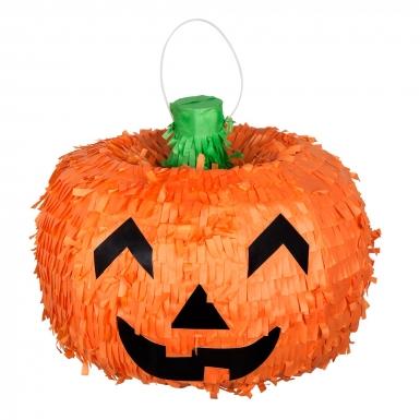 Kürbis Piñata Halloween Dekoration für Kinder orange 32cm