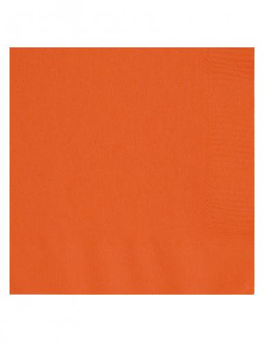 Servietten Set Party-Servietten 20 Stück orange