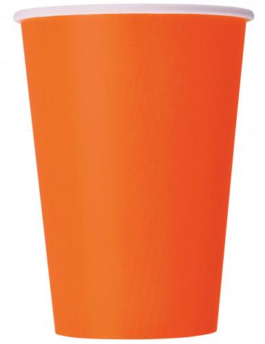 Pappbecher Partybecher Set 8 Stück orange 250ml