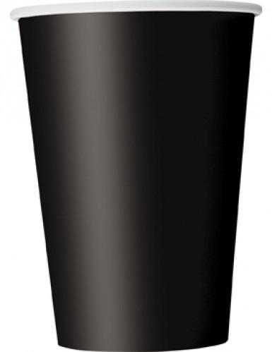 Party-Becher Pappbecher 10 Stück schwarz 355ml