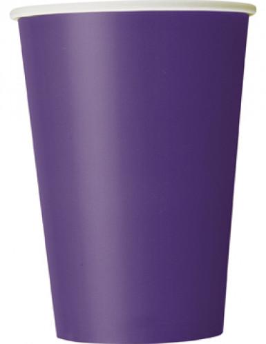 Partybecher Pappbecher 10 Stück violett