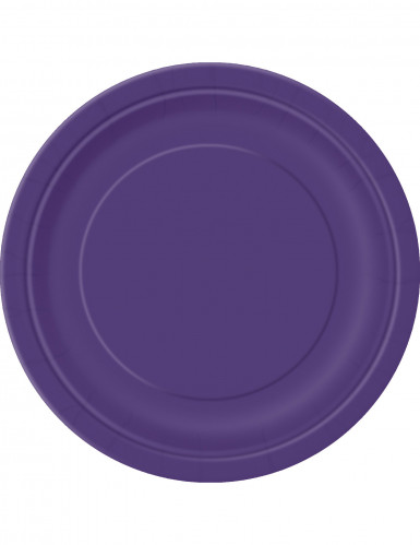 Pappteller Tischdeko 16 Stück lila 23cm