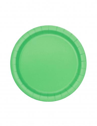 Runde Partyteller Pappteller 20 Stück grün 18cm