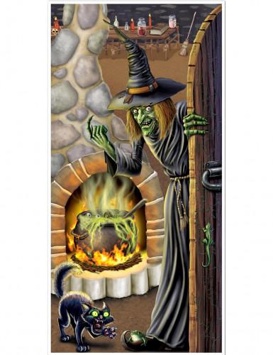 Halloween-Türposter Hexenparty bunt 76x152cm