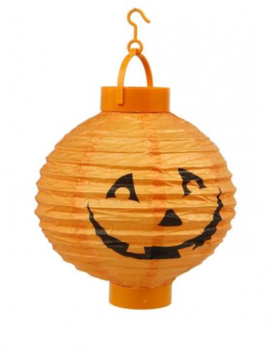 Süsse Kürbis Laterne Halloween Party-Deko orange-schwarz 20cm