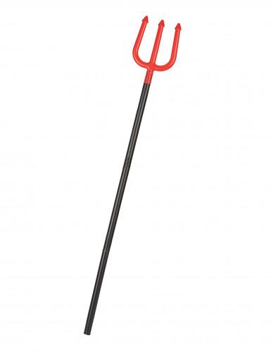 Teufel Dreizack Halloween rot-schwarz 110cm