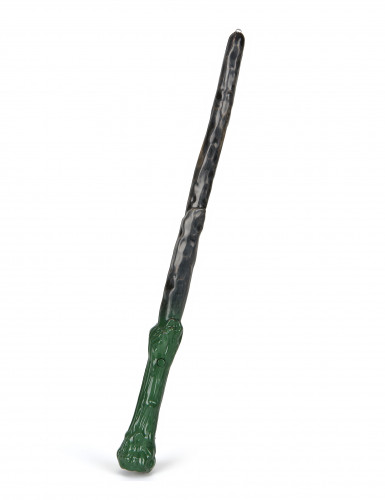 Zauberstab mit Leuchtfunktion grün-schwarz 35cm