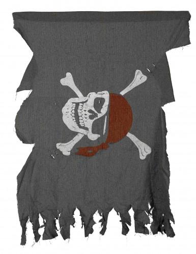 Piraten-Fahne Piratenparty-Deko grau 50x40cm