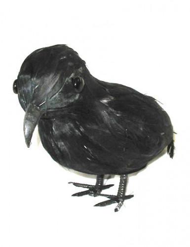 Rabe Halloween Dekofigur schwarz 18cm