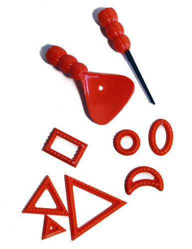 Kürbis Bastel-Set rot-schwarz
