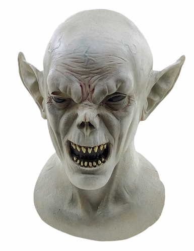 Halloween Kreaturen-Maske Vampirmaske grau
