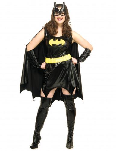 Batgirl™-Kostüm für Damen Große Größen Halloweenkostüm schwarz-gelb