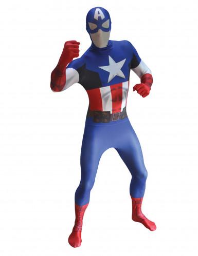 Marvel Captain America Morphsuit Lizenzware blau-weiss-rot