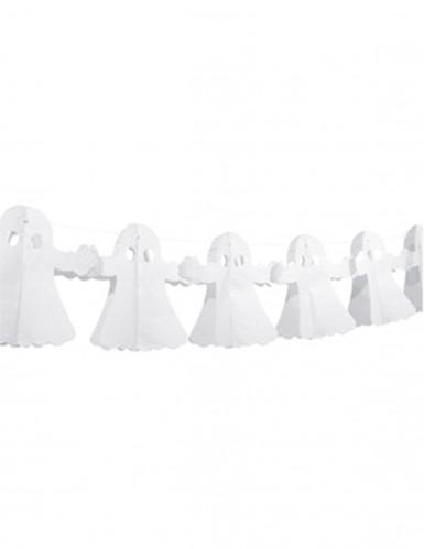 Geister Girlande Halloween Deko schwer entflammbar weiss 300x23cm