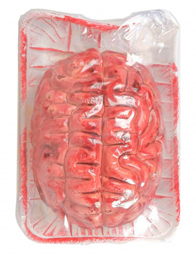 Blutiges Gehirn Halloween Party-Deko rot 16x12cm