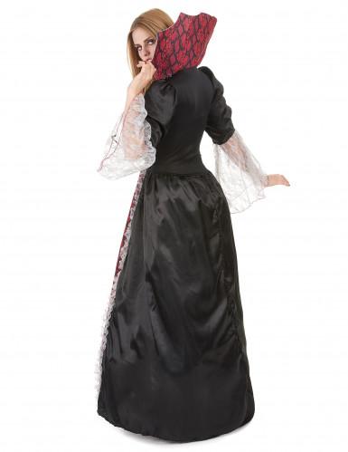 Edle Vampirdame Halloween Damenkostüm schwarz-rot-2