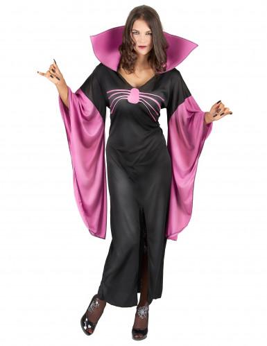 Spinnenkönigin Hexenkostüm schwarz-pink