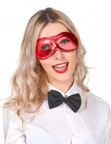 Augenmaske rot-metallic