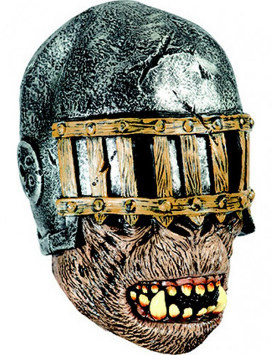 ZOmbie-Krieger Halloween-Latexmaske bunt