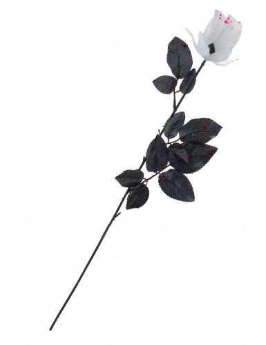 Blutige Rose Halloween-Party-Deko weiss-schwarz