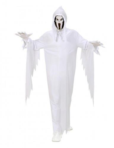 Schreiender Geist Halloween-Kinderkostüm weiss