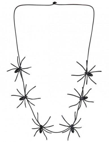 Halloween Halskette mit Spinnen schwarz 60cm