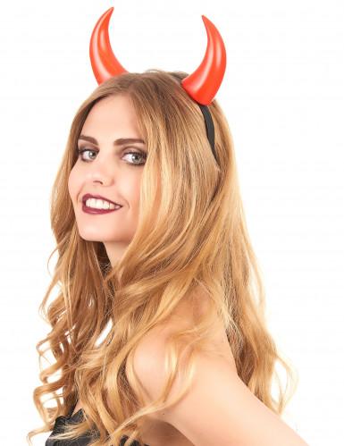 Rote Halloween-Hörner für Erwachsene rot