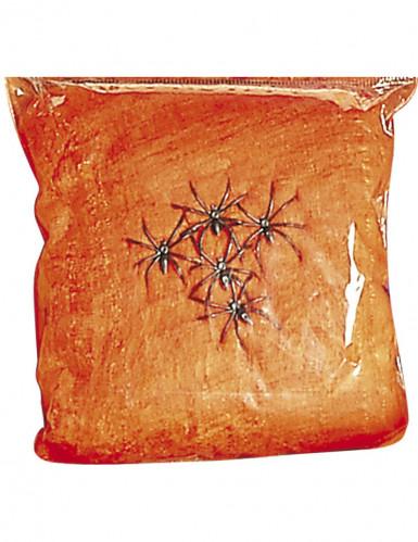 Spinnennetz mit Spinnen orange 31qm 100g