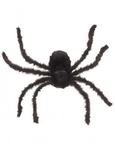 Behaarte Riesenspinne Halloween-Deko schwarz 75 cm