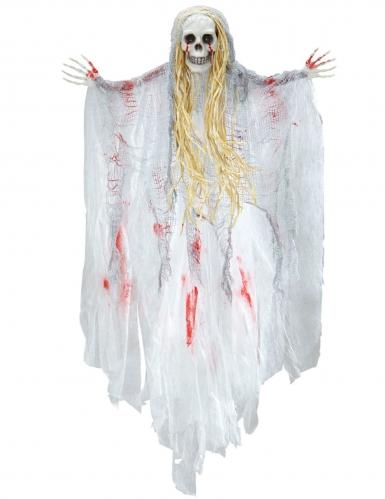 Blutender Geist Halloween-Dekofigur beige-rot 90 cm