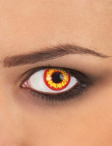 Kontaktlinsen Ork gelb-rot