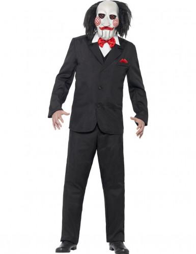 SAW Jigsaw Kostüm mit Maske Lizenzware schwarz-weiss-rot