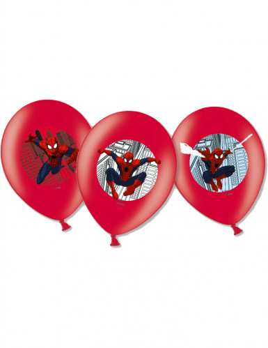Spider-Man™ Latex-Luftballons 6 Stück rot-nlau-weiss 27 cm