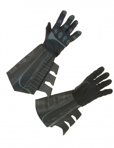 Batman™-Handschuhe Lizenzartikel schwarz
