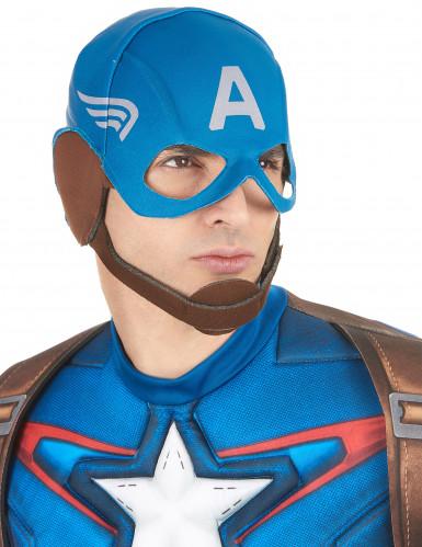 Captain America™-Maske für Erwachsene blau-weiss-braun